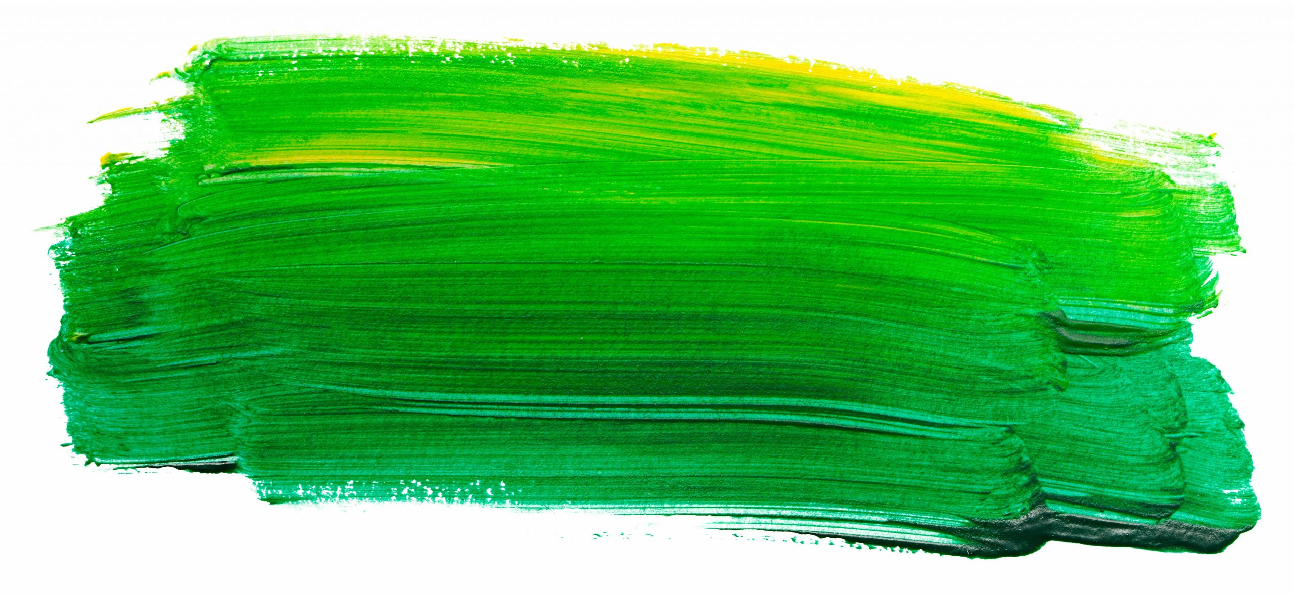 PuttBANDIT | Visibly Better Putting | Green paint brush strokes on white background